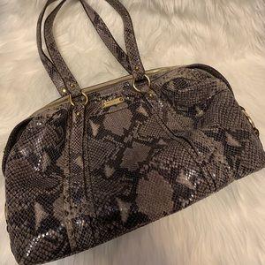 Michael kors embossed python leather bag